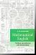 Mathematical English : Учебник английского для математиков.